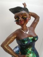 Sassy jazzy lady sculpture
